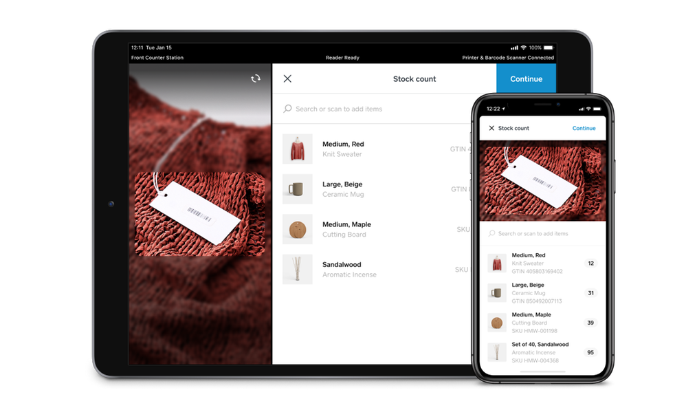 Inventory counting with Square for Retail