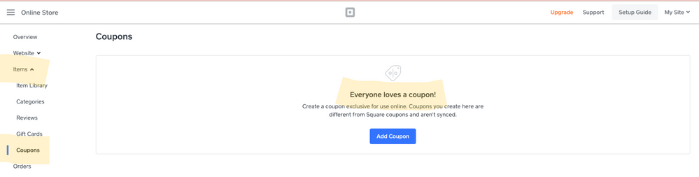 Solved How Do I Create A Discount Or A Coupon For Square The Seller Community
