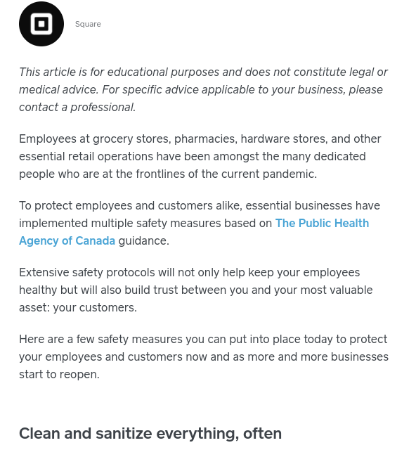 A preview of the Town Square blog '5 Ways Retailers Can Maintain A Safe and Healthy Workplace for Employees'. Click the link to read the full post!