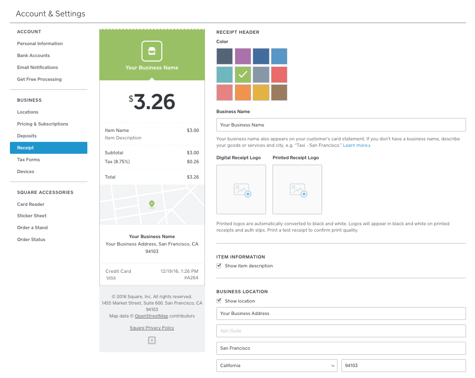 how to add image to square reader invoices