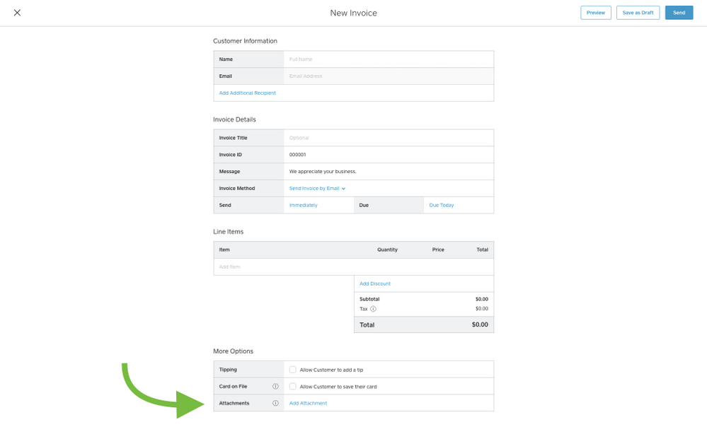 Attach PDF And Image Files To Square Invoices The Seller Community - Send invoice using square