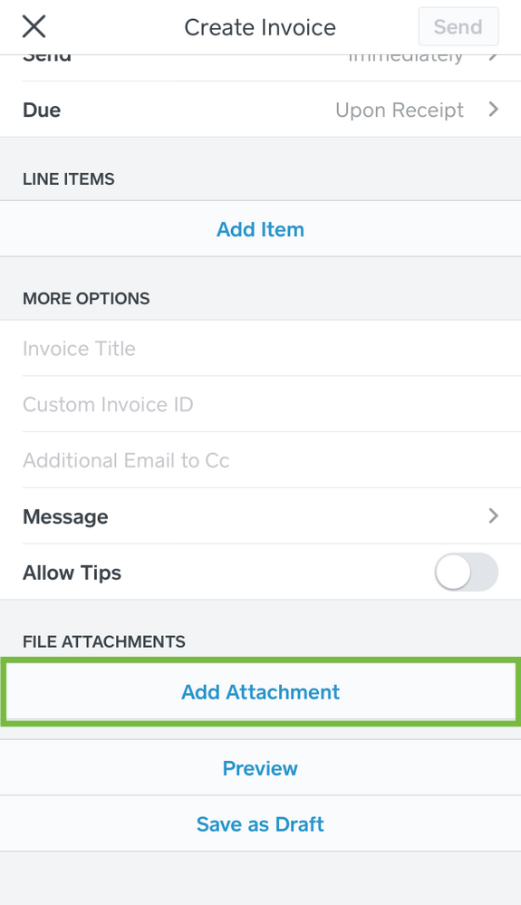 Attach PDF And Image Files To Square Invoices The Seller Community - Send invoice on square