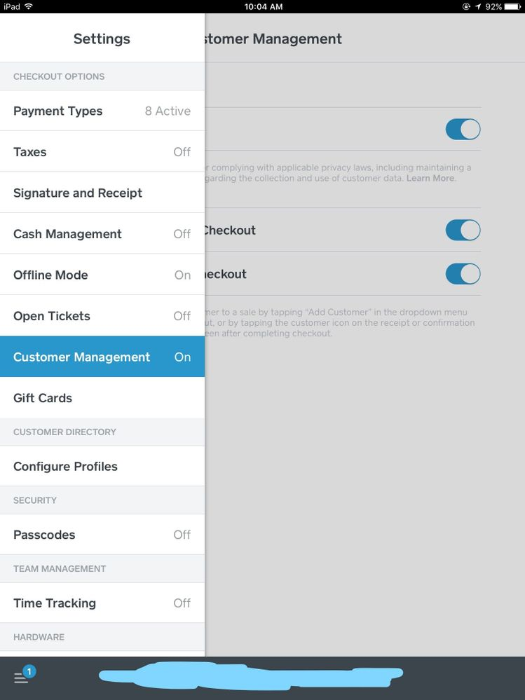 1. Tap Settings  Customer Management..jpg
