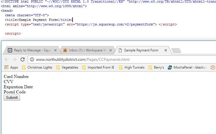 SqPaymentForm doesn't load any input fields, only     - The Seller