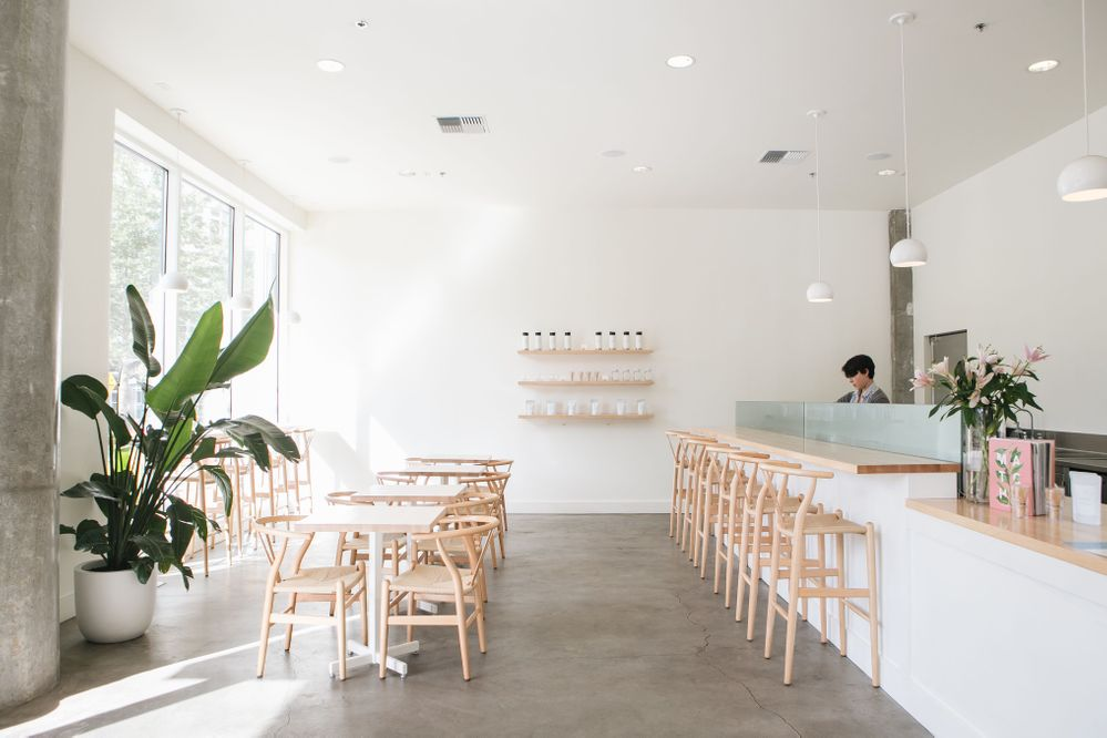 One of Tea Bar's Modern and Minimal Interiors
