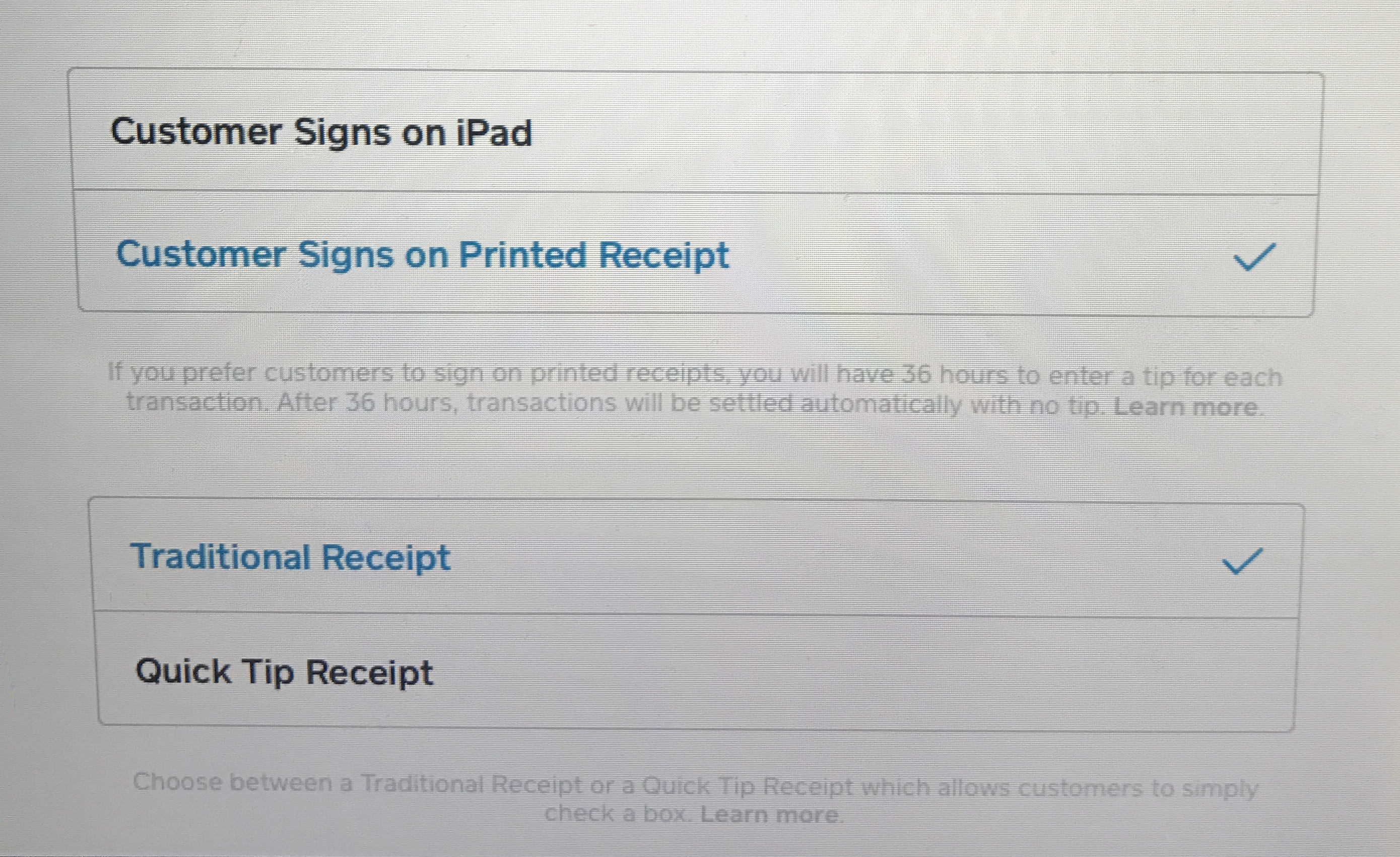 print receipt with signature the seller community