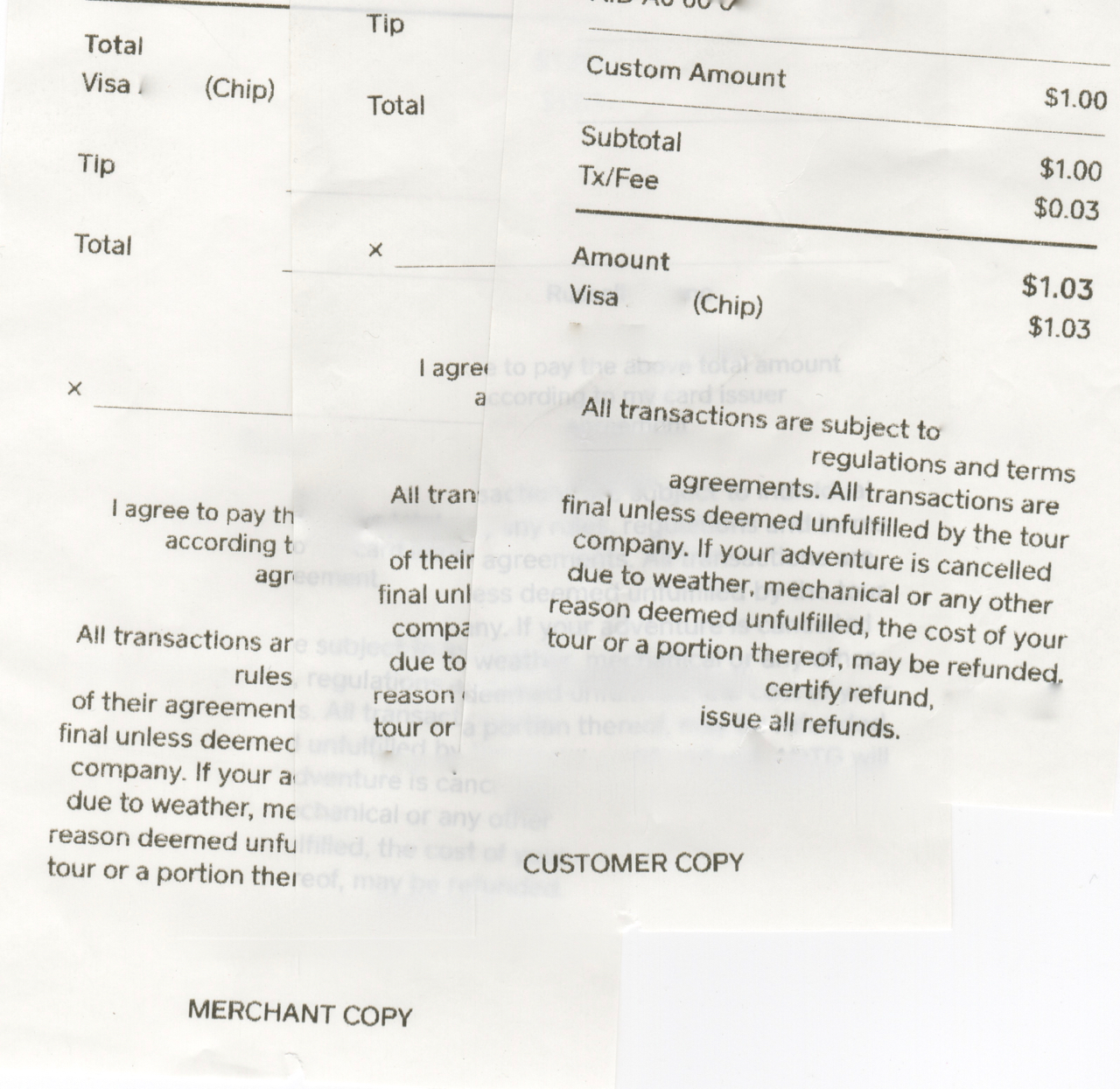 Print Receipt With Signature